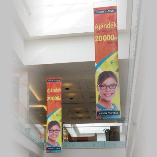 Kétoldalas függő banner